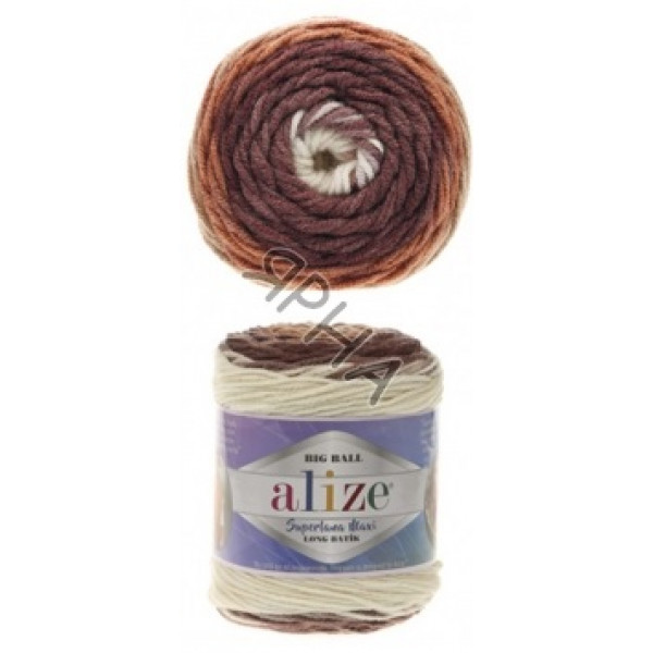 Yarn Superlana maxi long batik Alize (Ализе) #   6770 [батик]