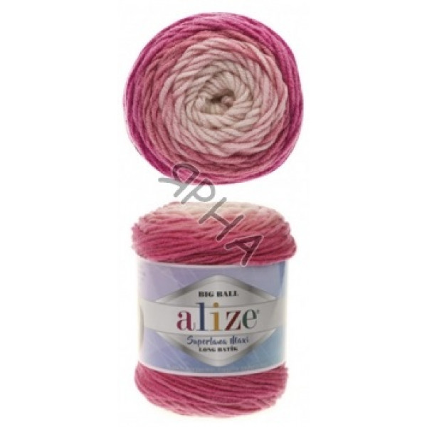 Yarn Superlana maxi long batik Alize (Ализе) #   6769 []