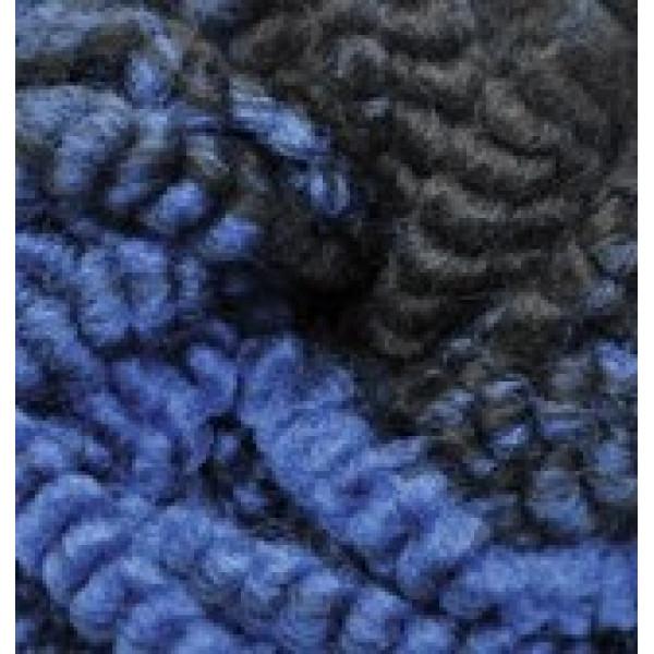 Пряжа в мотках Фэшн букле Alize (Ализе) #   5569 [меланж синий+чернй]