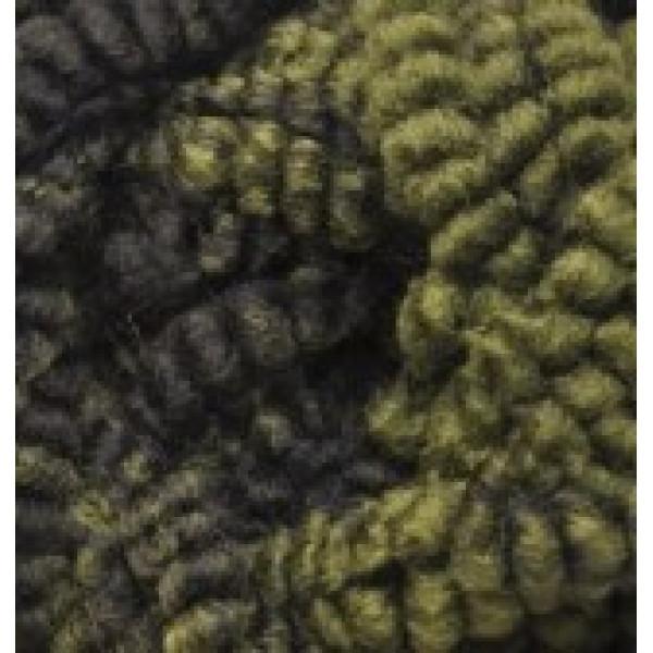 Yarn Fashion boucle Alize (Ализе) #   5573 [хаки+черный меланж]