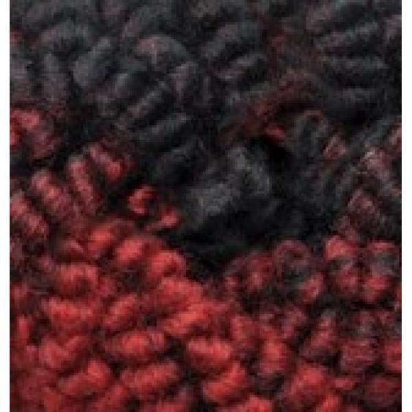 Пряжа в мотках Фэшн букле Alize (Ализе) #   5571 [красный+черный меж]