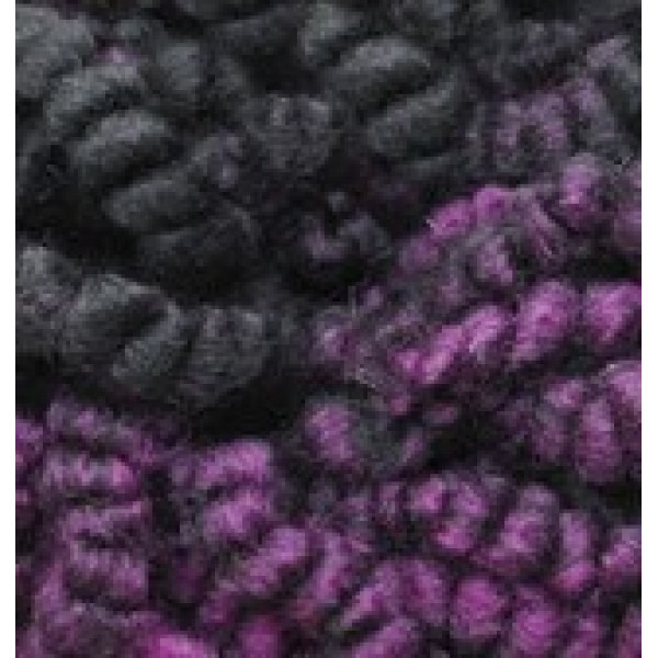Yarn Fashion boucle Alize (Ализе) #   5572 [фиол+черн меланж]