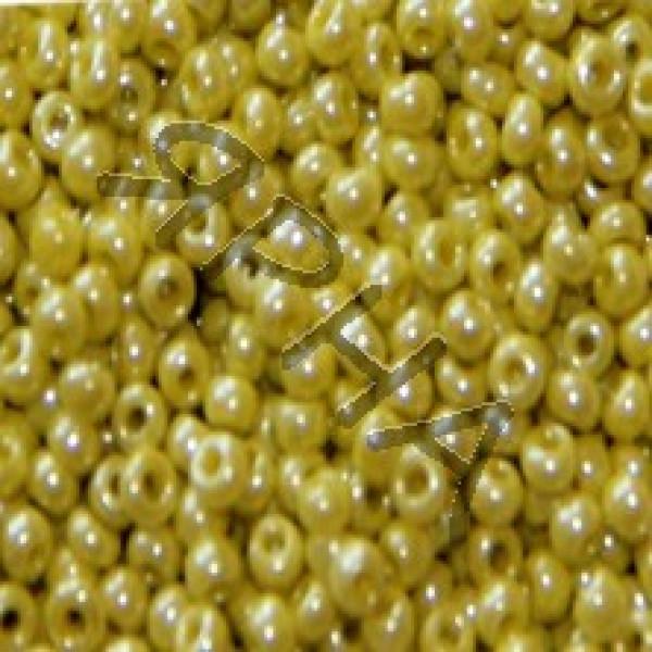 Бисер 122 желтый жемчуг Корея
