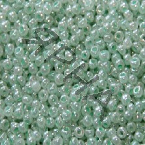 Бисер 336 мята перл Корея