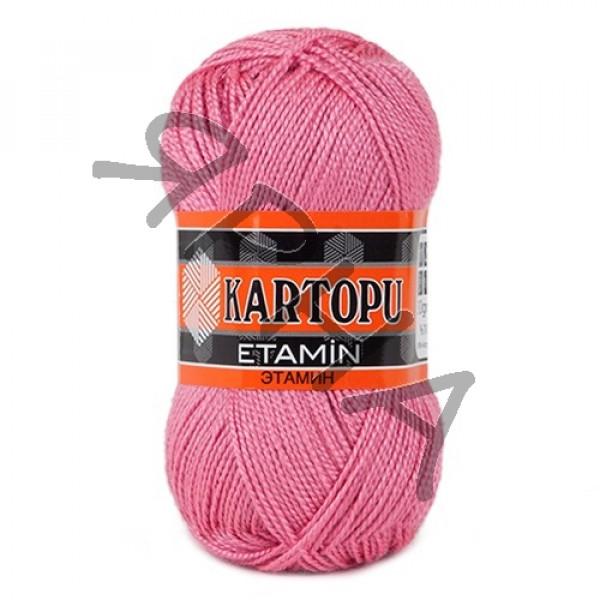 Пряжа в мотках Этамин Картопу Картопу #    800 [розовый]
