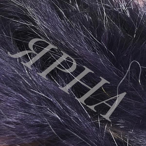 Мех шт кролика #        [т.фиолетовый с чер]