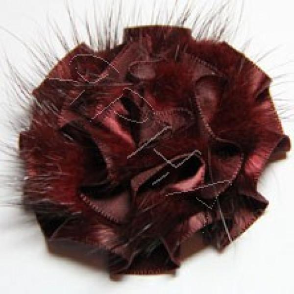 Розочка норка атлас #        [бордо]