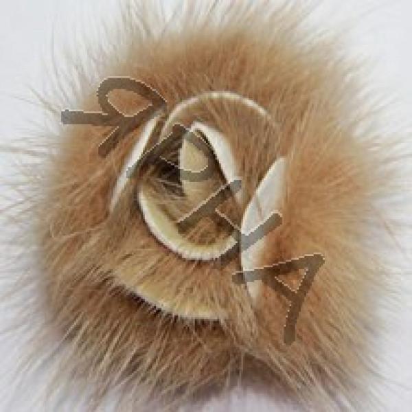 Розочка норка #        [бежевая]