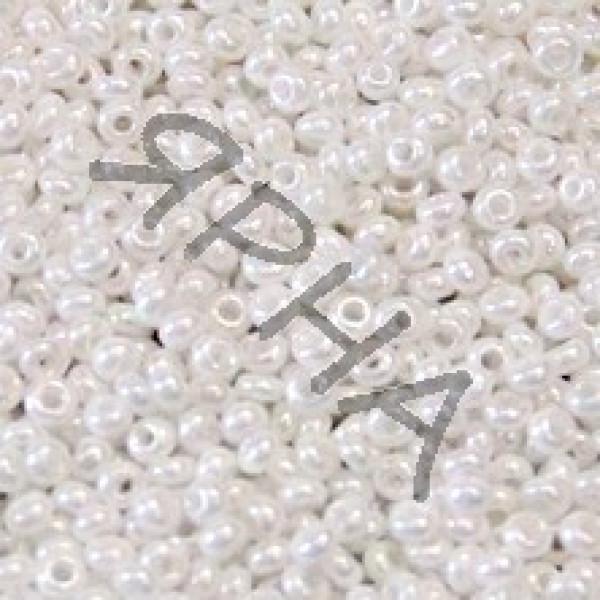 Beads Бисер Корея #    121 [белый жемчуг]