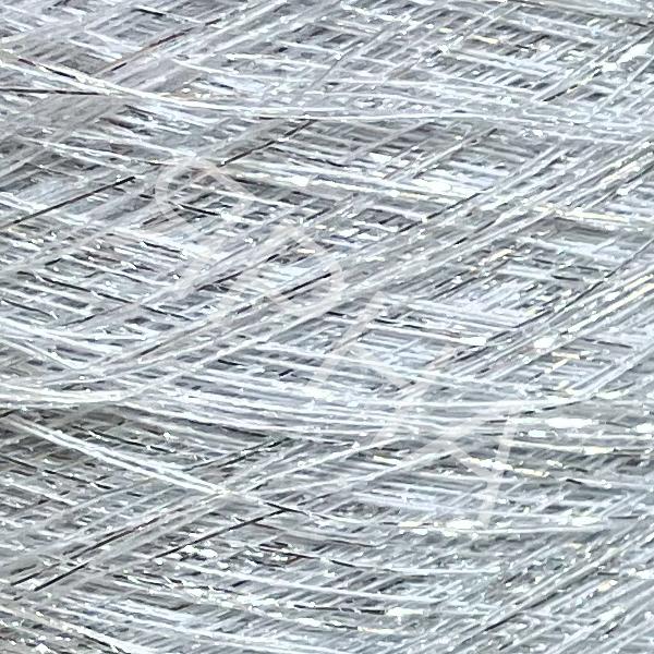 Люрекс конус 2042 белый/серебро REX