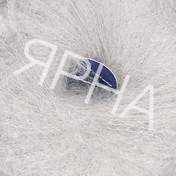 Кид мохер #   9128 [белый серый]