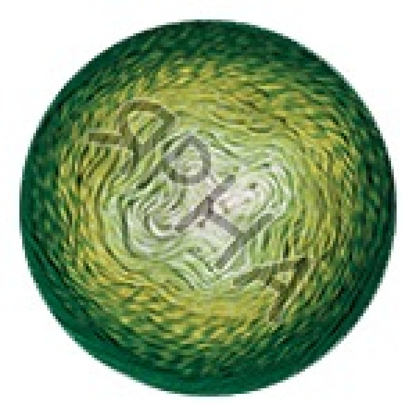 Пряжа в мотках Фловерс YarnArt (РАМ) #    283 [зелено-салатный]