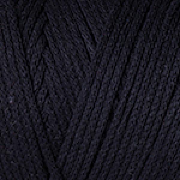 Макраме коттон 750 черный YarnArt (РАМ)