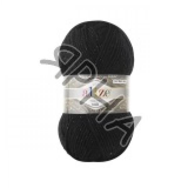 Суперлана миди люкс 6060 черный/черный Alize (Ализе)