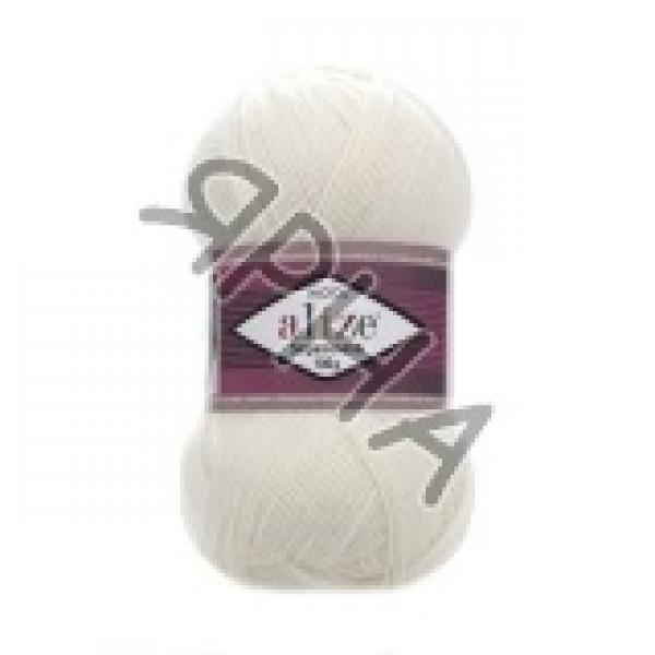 Yarn Суперваш 100 Alize (Ализе) #     01 [крем]