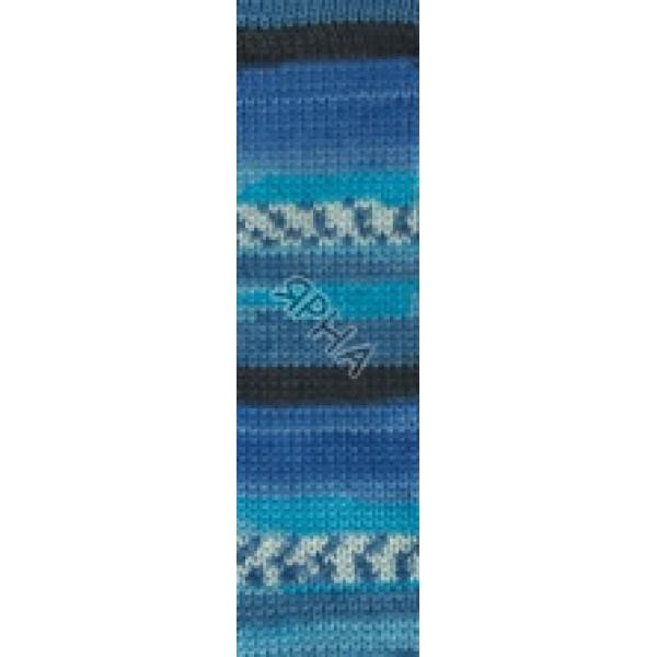 Суперваш 100 4446 сине-голубой Alize (Ализе)