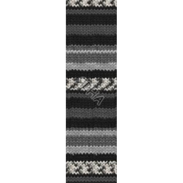 Пряжа Суперваш 100 Alize (Ализе) #   2695 [серо-черный]