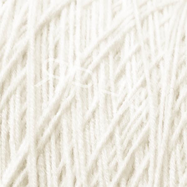 Yarn on cones Wool 50% Sweet Miroglio #    007 [белый натуральный]