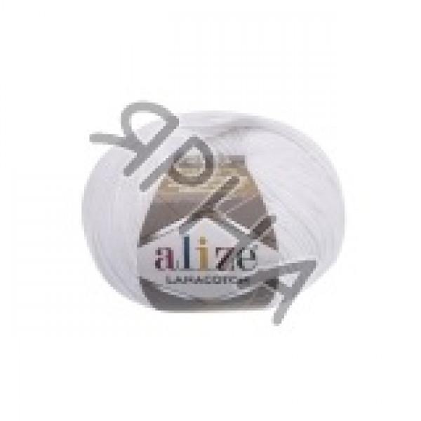Пряжа в мотках Лана котон Alize (Ализе) #     55 [белый]