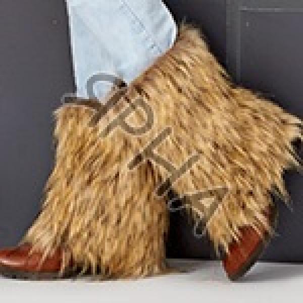 Fur-boot \ leg warmer \